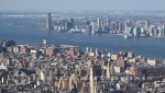 New York - Blick vom Empire State Building auf Lower Manhattan, den Hudson River und Jersey