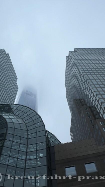 World Trade Center im Nebel