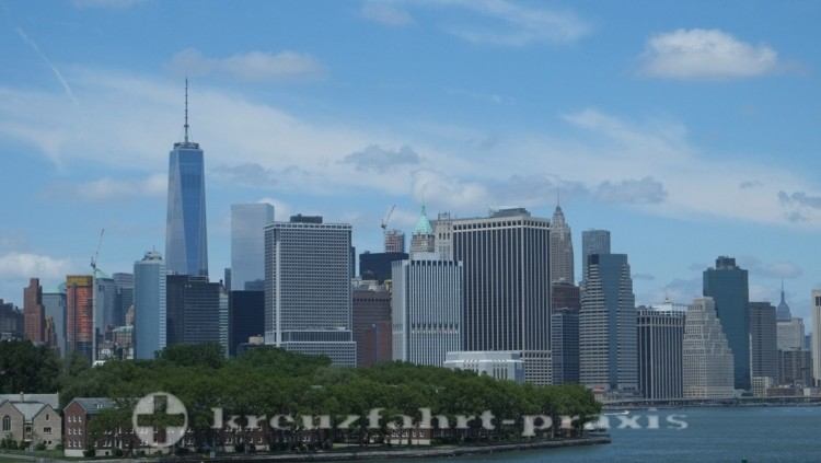 World Trade Center von New Yorks Südspitze gesehen