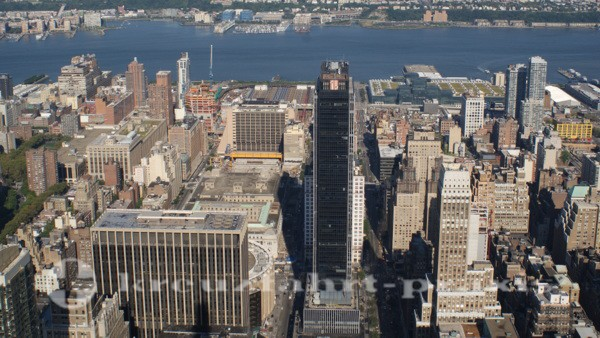 New York - Blick vom Empire State Building auf Hudson River