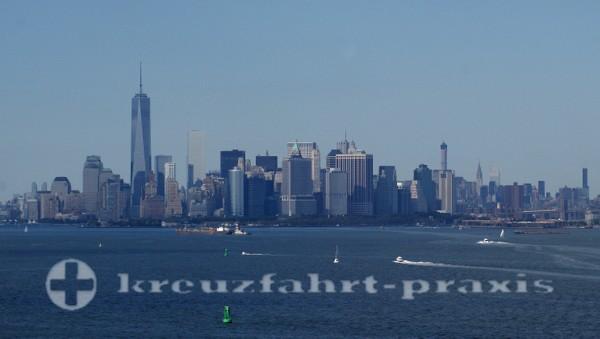 New York - Manhattan-Halbinsel vom Hudson River gesehen