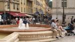 Nizza - Brunnen auf der Place du Palais