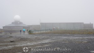 In the fog - the North Cape Halls