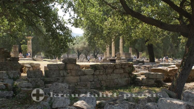 Olympia - Die Ruinen des Prytaneion