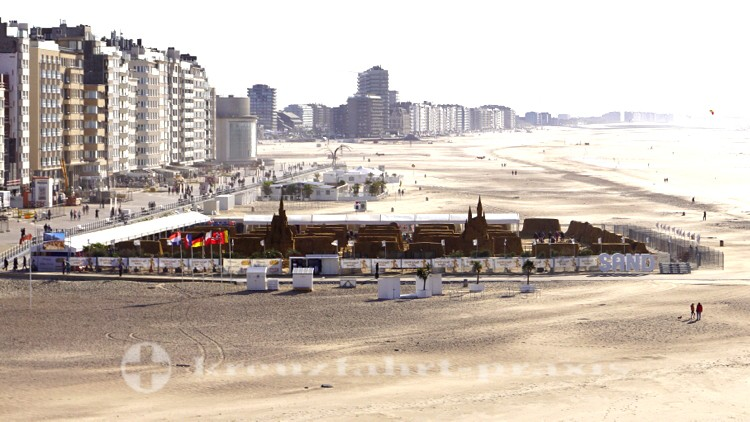 Das Areal des Sandfigurenfestivals