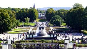 Vigeland Skulpturenpark - Blick aufs Haupttor