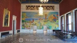 Der Bankettsaal im Rathaus von Oslo