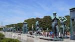 Vigeland Skulpturenpark - Brücke mit Bronzeskulpturen