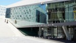 Oslos neuem Opernhaus aufs Dach gestiegen