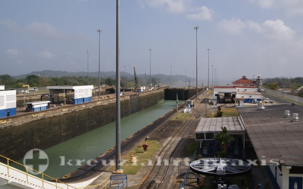 Panama - Schleusenkammer