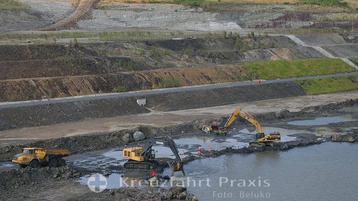 Panamakanal Passage - Blick auf die Erweiterungsarbeiten