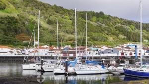 The marina of Lajes do Pico