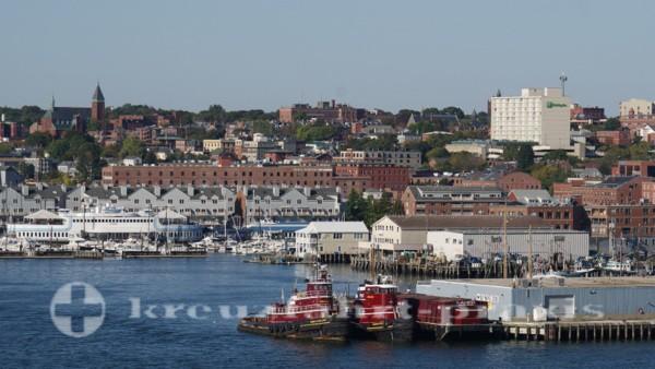 Portland/Maine - Portlands Hafen heute