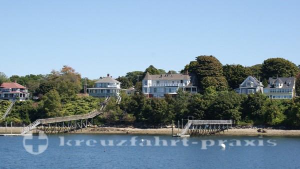 Portland - Häuser auf Peaks Island