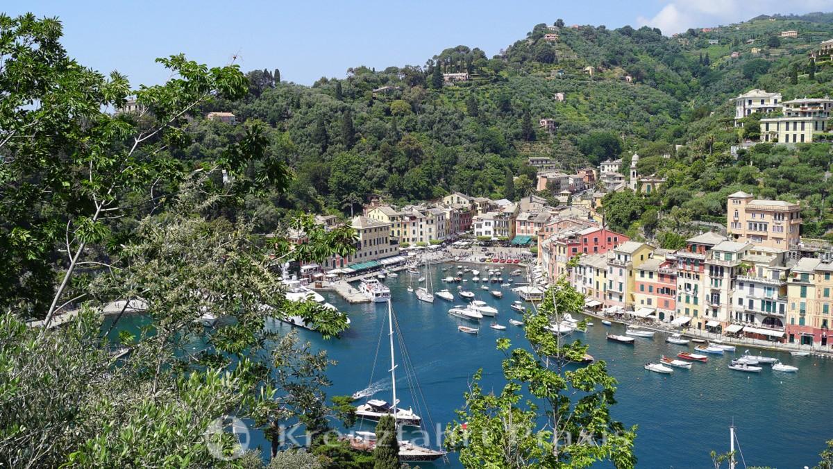 Portofino vom Castello Brown gesehen