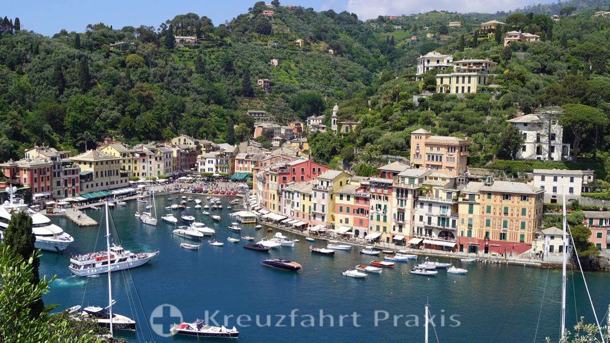 Portofino - seen from Castello Brown