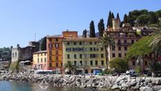 Santa Margherita Ligure - Strandpromenade mit Kastell