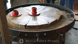 In the Oxcart Factory - building the wheels