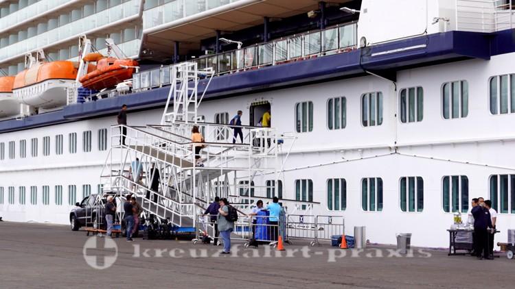Das Kreuzfahrt-Terminal von Puerto Madryn