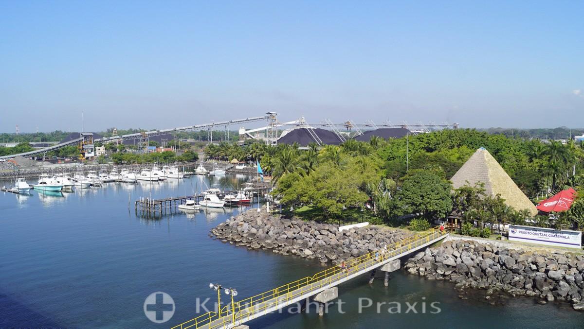 The industrial port of Puerto Quetzal
