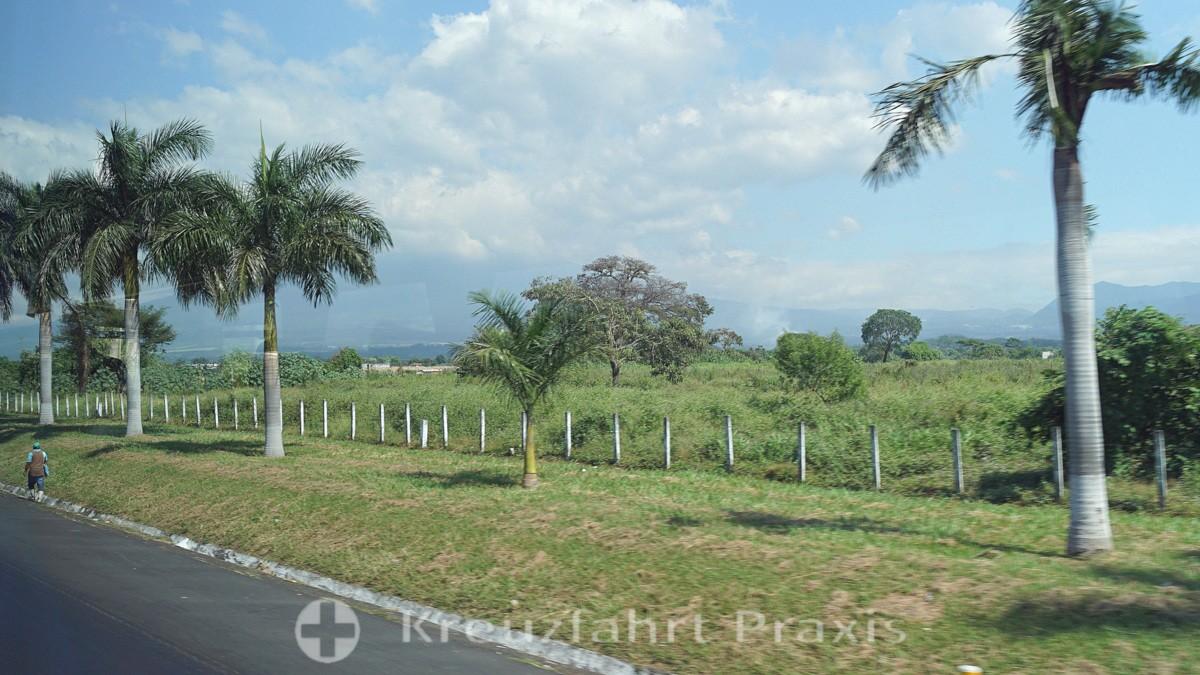 Das guatemaltekische Tiefland hinter Puerto Quetzal