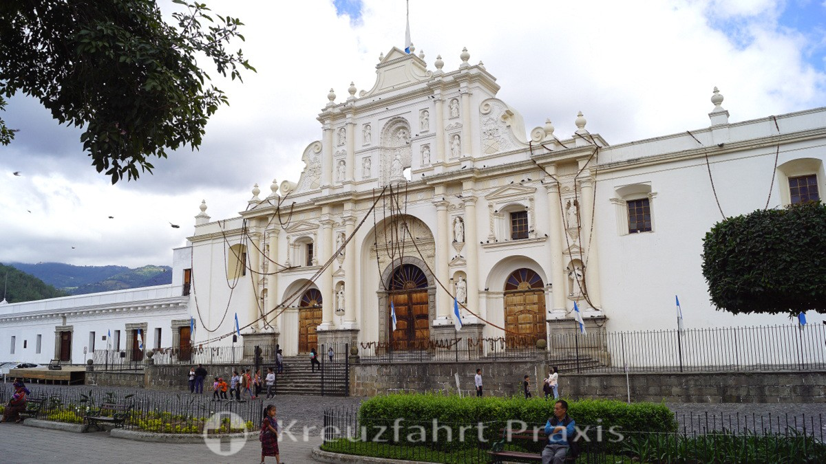 La Antigua Guatemala - die erhaltene Fassade der Kathedrale San José