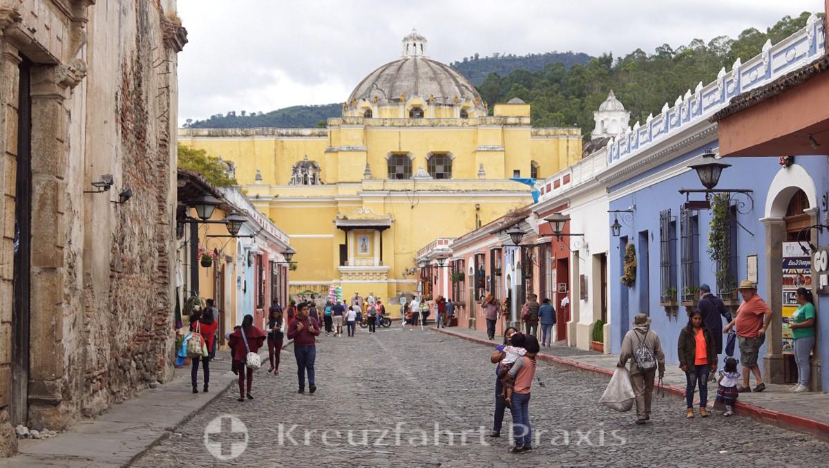 Antigua - Kirche und Kloster de La Merced - Seitenschiff