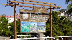 Puerto Vallarta - Wegweiser zum Museum Isla Rio Cuale