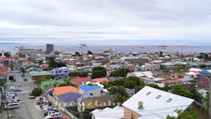 Blick vom Cerro de la Cruz auf Punta Arenas