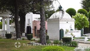Gräber auf dem Cemeterio Monumental