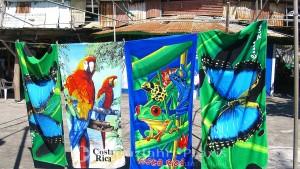 Costa Rica - die Vielfalt der Natur auf Badetüchern abgebildet