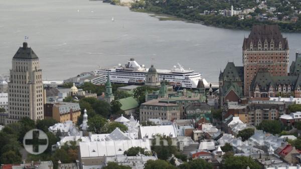 Québec - Chateau Frontenac und MS Veendam