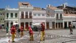 Recife - Reinigungsarbeiten auf dem Patio de Sao Pedro
