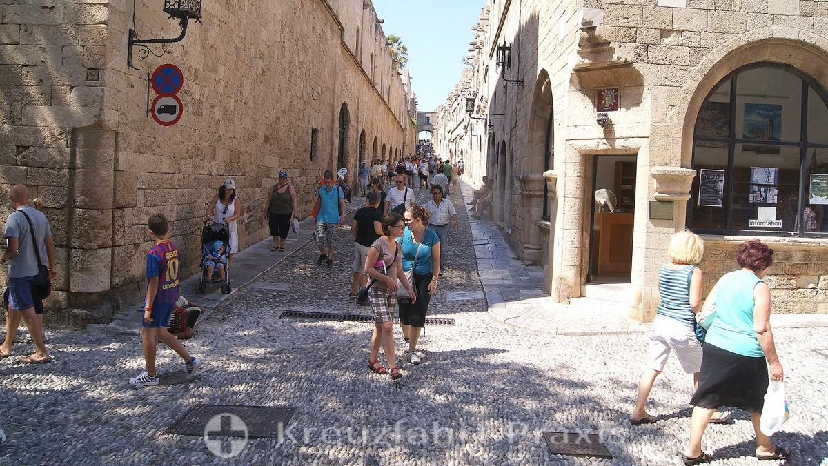 Rhodes - the street of knights
