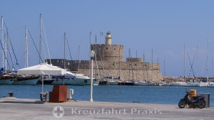 Rhodes city - Saint Nicholas fortress with the lighthouse