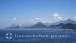 Rio de Janeiro - Copacabana vom Meer aus gesehen
