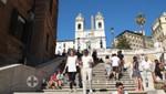 Spanische Treppe mit der Trinità dei Monti