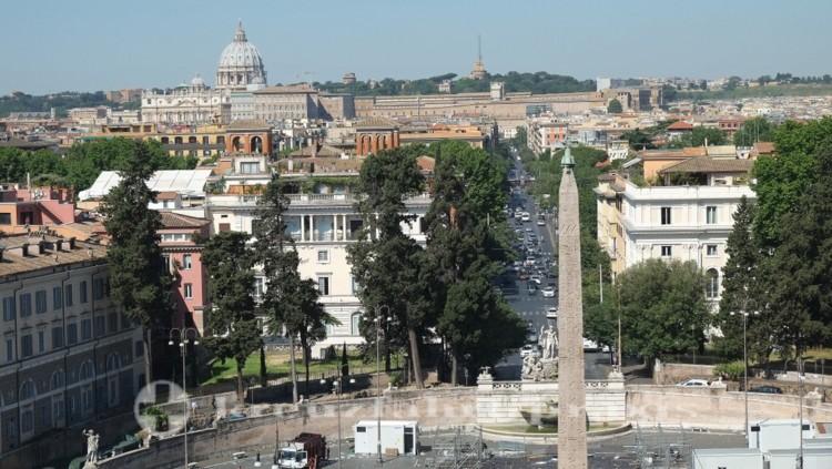 Blick von der Terrazza del Pincio