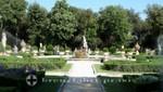 Piazzale Scipione Borghese - Gartenanlage Rückseite Museum