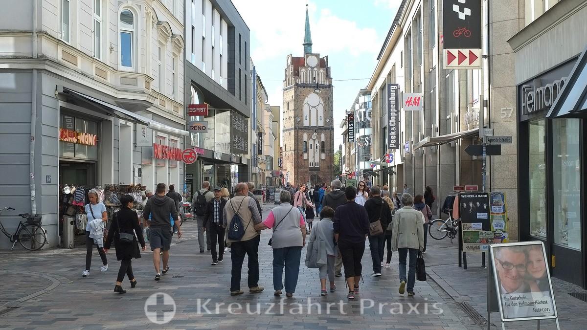 Rostock - Kröpeliner Straße with the Kröpeliner Tor