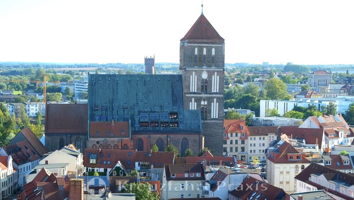 Rostock - Panoramic view from the Nikolaikirche