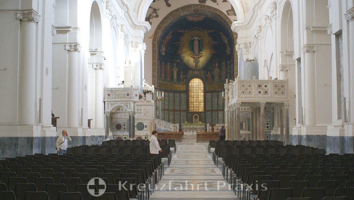 Salerno - central nave of the cathedral