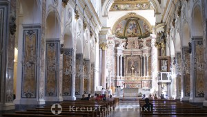 Amalfi - central nave of the cathedral