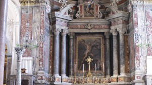 The main altar of the Amalfi Cathedral