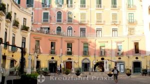 Salerno - Piazza Flavio Gioia - with the dolphin fountain