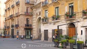Salerno - Piazza Flavio Gioia - with the Porta Nova