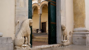 Salerno - Cathedral of the Evangelist Matthew - Lions in the entrance area