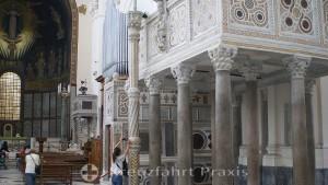 Salerno - Cathedral of the Evangelist Matthew - Ambone and organ