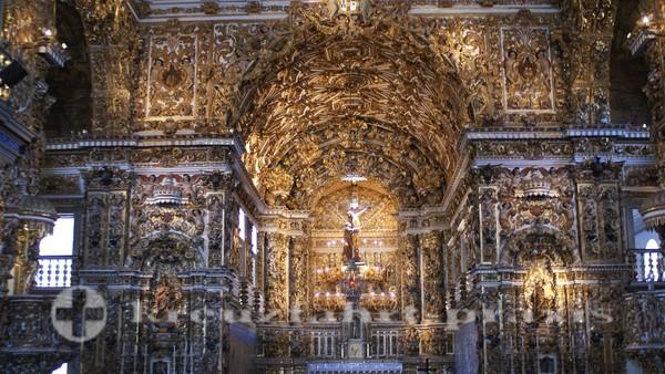 Salvador da Bahia - Convento e Igreja de Sao Francisco - Altarraum