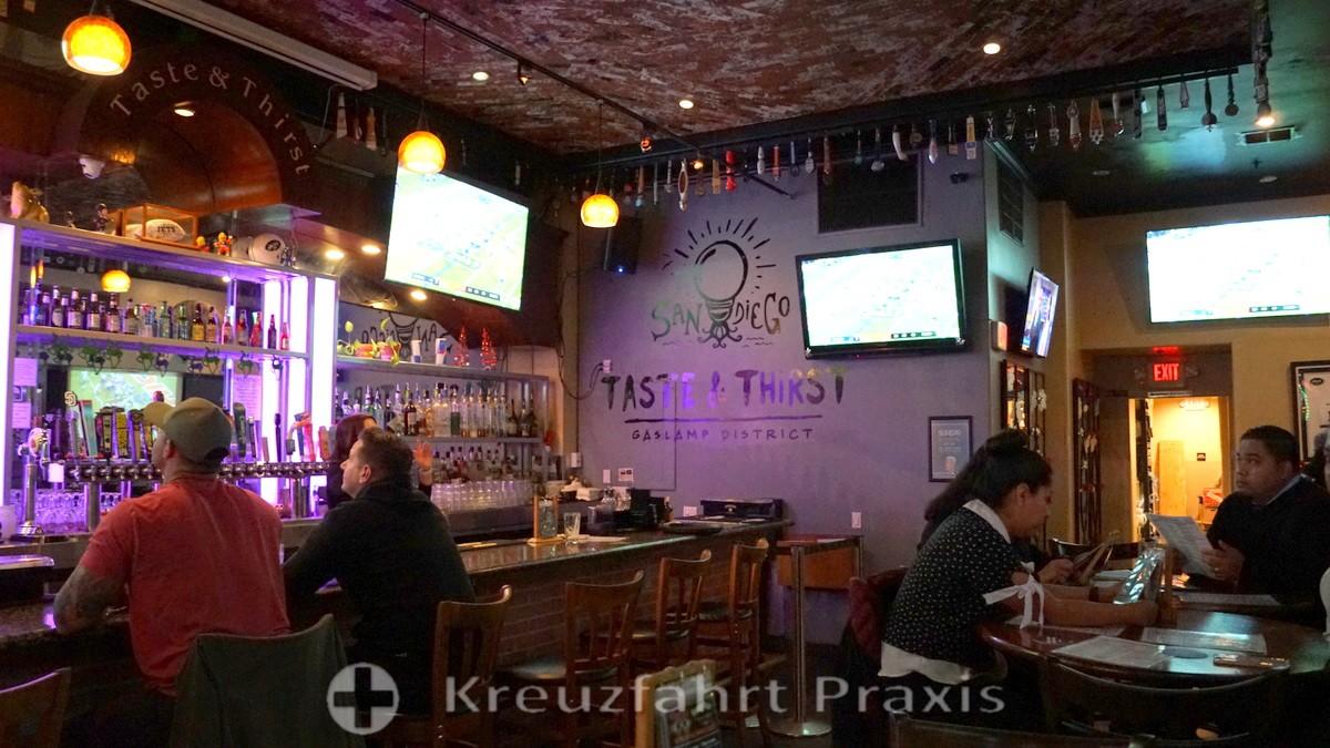 Taste & Thirst sports bar in the Gaslamp district